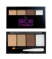 Палетка для бровей I Heart Makeup Brow Kit MakeUp Revolution Fairest of them all: фото