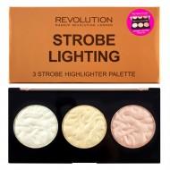 Палетка хайлайтеров Makeup Revolution Strobe Lighting Palette: фото