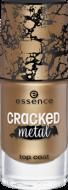 Верхнее покрытие растрескивающееся золото Сracked metal top coat Essence 35: фото