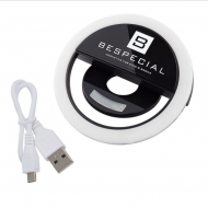 Портативная светодиодная лампа для смартфона Bespecial (черная): фото