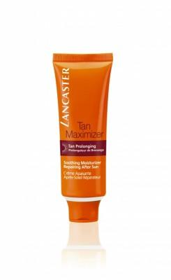 Успокаивающий увлажняющий крем.Lancaster After Sun - Tan Maximizer восстановление после загара для всех типов кожи для лица 50 мл: фото