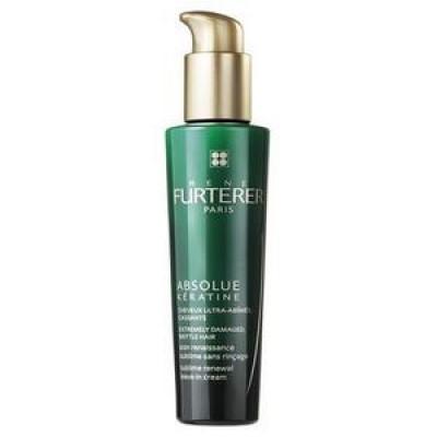 Восстанавливающий крем-уход без смывания для экстремально поврежденных, ломких волос Rene Furterer Absolue Keratine 100 мл: фото