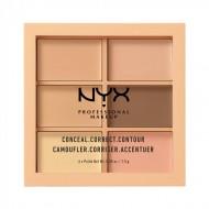 Палетка консилеров NYX Professional Makeup CONCEAL, CORRECT, CONTOUR PALETTE - LIGHT 301: фото
