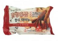 Мыло-скраб парфюмированное с красным женьшенем JUNO Lovelybebe perfume peeling soap red ginseng 120 мл: фото