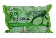 Мыло-скраб парфюмированное с огурцом JUNO Lovelybebe perfume peeling soap cucumber 120мл: фото