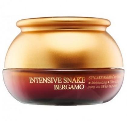 Крем с экстрактом змеиного яда антивозрастной BERGAMO Intensive snake synake wrinkle 50 г: фото