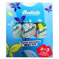 Набор BATISTE Cherry 50мл+Tropical 50мл+Original 50 мл (Третий шампунь в подарок): фото