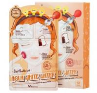 Маска трехступенчатая увлажняющая ELIZAVECCA Aqua White Water Illuminate Mask Pack: фото