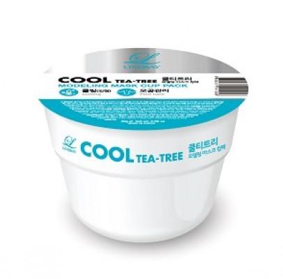 Альгинатная маска с чайным деревом LINDSAY Cool tea-tree disposable modeling mask cup pack 28 г.: фото