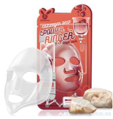 Маска тканевая с коллагеном ELIZAVECCA Deep Power Ringer Mask Pack Collagen 23 мл: фото