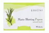 Матирующие салфетки для лица LIMONI Matte Blotting Papers 80шт.: фото