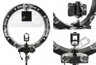 "Кольцевая лампа Stellar Diva X-LED 18"" Ring Light New Complete Kit (black): фото"