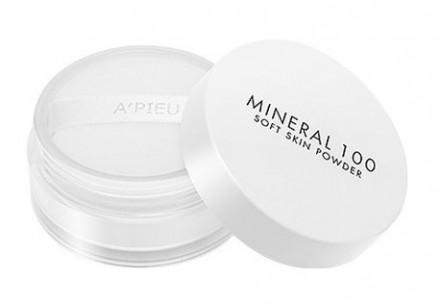 Пудра минеральная рассыпчатая A'PIEU Mineral 100 Soft Skin Powder: фото