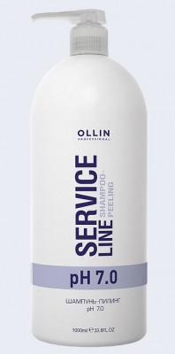 Шампунь-пилинг OLLIN SERVICE LINE Shampoo-peeling pH7.0 1000мл: фото