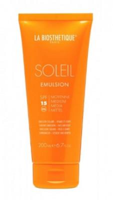 Молочко солнцезащитное водостойкое SPF15 La Biosthetique Soleil Emulsion Corps: фото