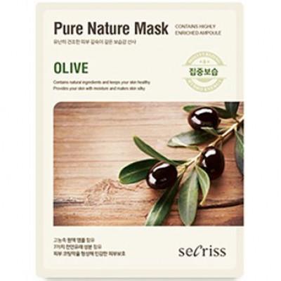 Маска для лица тканевая Anskin Secriss Pure Nature Mask Pack-Olive 25мл: фото