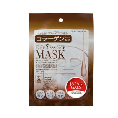 Маска с коллагеном Japan Gals Pure 5 Essential 1 шт: фото