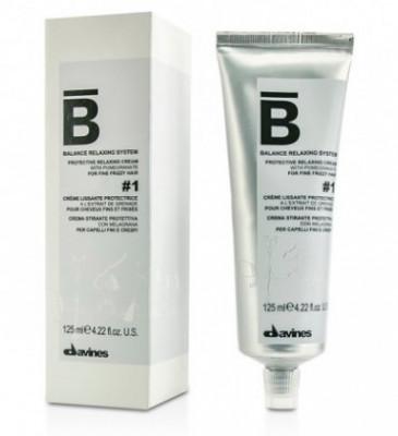 Крем для химического выпрямления тонких волос №1 Davines BALANCE RELAXING SYSTEM protective relaxing cream №1 125 мл: фото