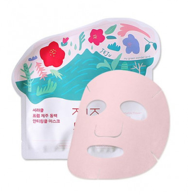 Маска для лица тканевая от морщин Ciracle From Jeju Camellia Flower Anti-Wrinkle Mask Pack 21г: фото