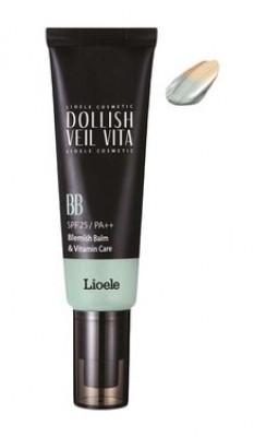ВВ-крем Витаминная вуаль Lioele Dollish Veil Vita BB SPF25 №2Natural Green 50мл: фото
