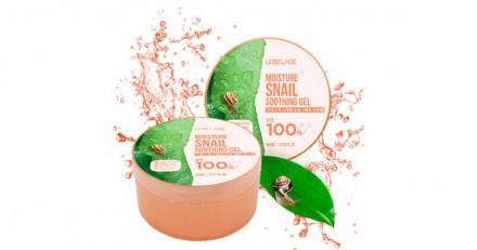 Гель Восстанавливающий с улиточным муцином LEBELAGE Moisture Snail Purity 100% Soothing Gel: фото