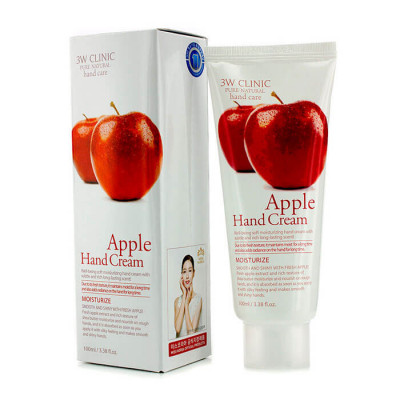 Крем для рук увлажняющий с экстрактом яблока 3W CLINIC Moisturizing Apple Hand Cream 100мл: фото