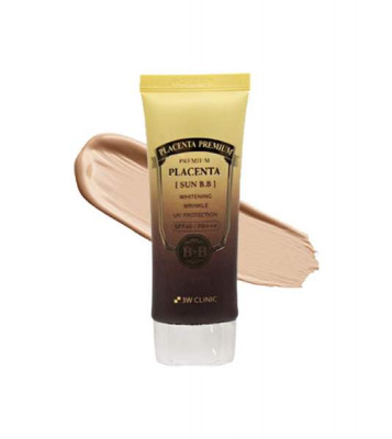 ВВ-крем омолаживающий с экстрактом плаценты 3W CLINIC Premium Placenta Sun BB Cream SPF40/PA+++: фото