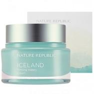 Крем для лица укрепляющий увлажняющий NATURE REPUBLIC Iceland Firming Watery Cream 50мл: фото