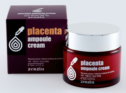 Плацентарный крем для лица ZENZIA Placenta Ampoule Cream: фото