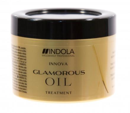 Маска восстанавливающая смываемая Чарующее сияние Indola Glamorous Oil Treatment 200мл: фото