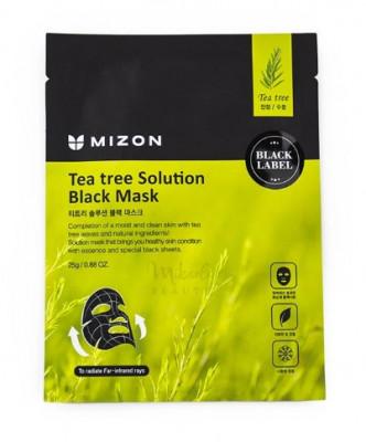 Тканевая маска с экстрактом чайного дерева MIZON Tea Tree Solution Black Mask: фото