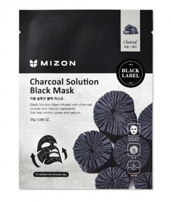 Тканевая маска c древесным углем Charcoal Solution Black Mask: фото