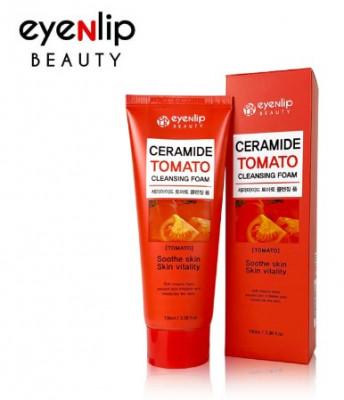 Пенка для умывания Eyenlip CERAMIDE TOMATO CLEANSING FOAM 100мл: фото
