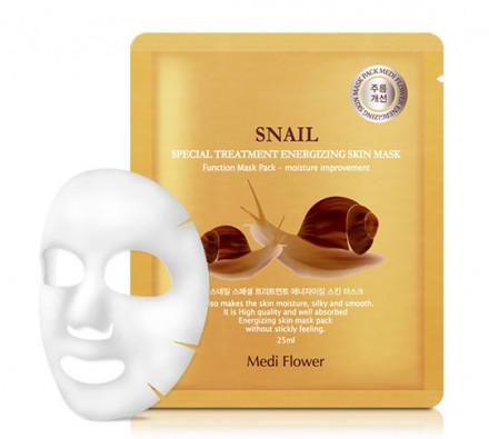 Маска интенсивно омолаживающая с экстрактом муцина улитки Special Treatment Energizing Mask Pack Snail 25мл: фото