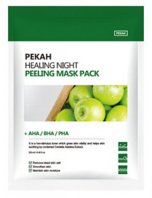 Тканевая маска с AHA-BHA-PHA кислотами PEKAH Healing Night Peeling Mask Pack 25мл*5шт: фото
