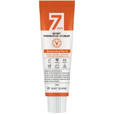 Крем для лица витаминизированный MAY ISLAND 7Days Secret Vita Plus-10 Cream 50мл: фото