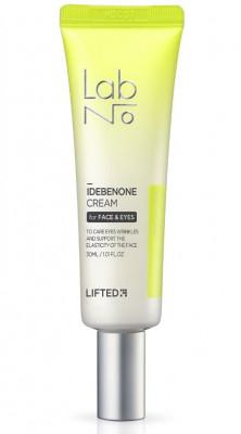 Крем для век антивозрастной с лифтинг эффектом LabNo Lifted Idebenone Cream for Face & Eyes 30 мл: фото