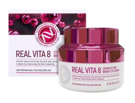Крем питательный с комплексом витаминов Enough Real Vita 8 Complex Pro Bright up Cream 50мл: фото