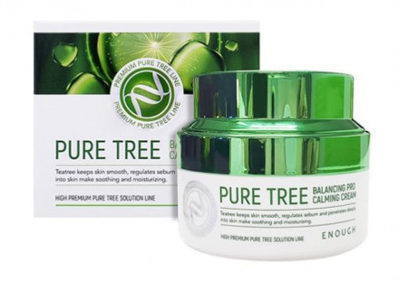 Крем успокаивающий с экстрактом чайного дерева Enough Pure Tree Balancing Pro Calming Cream 50мл: фото